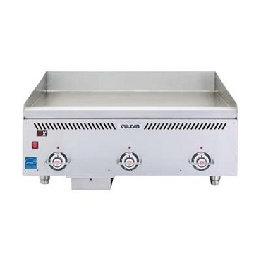 "Vulcan VCCG60-AC - Heavy Duty Gas Griddle, 137,500 BTU, 60""W x 24""D x 3/4"" thick co"