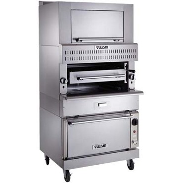 "Vulcan VIR1F - V Series Deck-Broiler, HeavyDuty range, Gas, single deck, 26"" x25"" grid, modular"