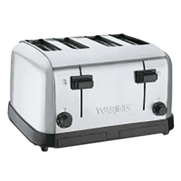 "Waring WCT708 - Commercial Toaster, medium-duty, (4) extra wide 1-3/8"" slots, (4"