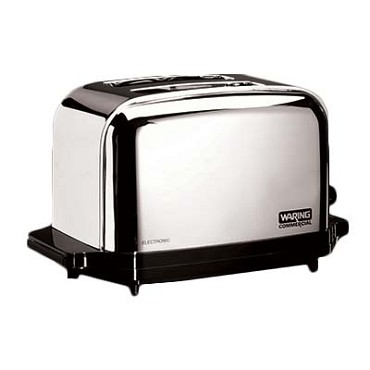 "Waring WCT702 - Commercial Toaster, (2) extra wide 1-3/8"" extra long slots, (2)"