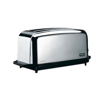 "Waring WCT704 - Commercial Toaster, (2) extra wide 1-3/8"" extra long slots, (4)"