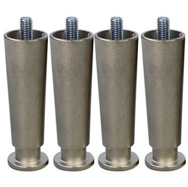 "Wells 20563 - Legs, 4"", stainless steel, set of four, adjustable, for counter"