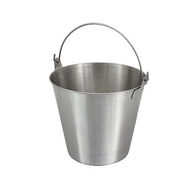 Winco UP-13 - Utility Pail, 13 quart, stainless steel (Case of 12)