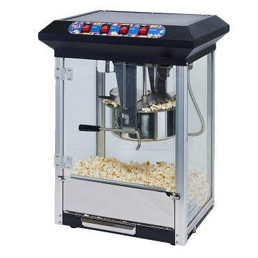 Winco POP-8B - Countertop Popcorn Machine, electric, 8 oz. stainless steel kettle, black