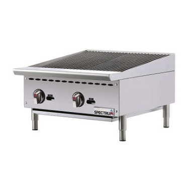 "Winco NGCB-24R - Countertop Charbroiler, gas, 24""W x 20""D surface, (2) burners"