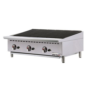 "Winco NGCB-36R - Countertop Charbroiler, natural gas, 36""W x 34-7/16""D, (3) burners"