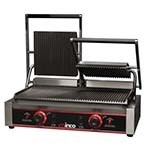 Winco EPG-2 - Italian Style Panini Grill, electric, countertop, double, 22-1/2in. x 12in.