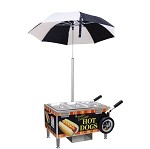 Gold Medal 8080S - Sterno Table Top Hot Dog Cart